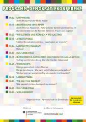 """Flyer, Programm, Demokratiekonferenz in Falkensee: """"Falkensee – unser Wohnzimmer"""""""