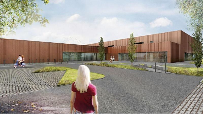 Das geplante Hallenbad in Falkensee