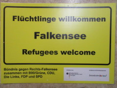Plakataktion vom Bündnis gegen Rechts (BgR)