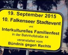 Werbung für das Stadtevent für Toleranz, Demokratie und Völkerverständigung