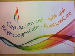 Das Logo vom Regenbogencafé